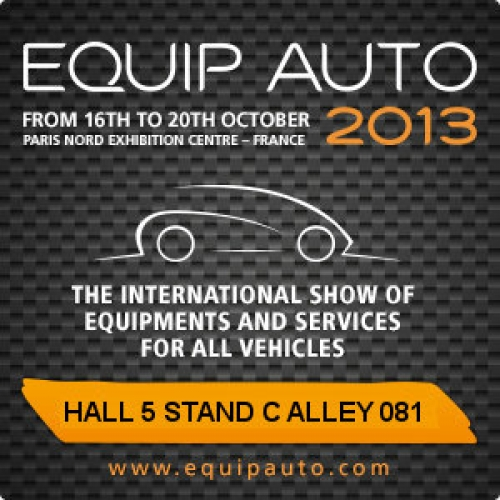 EQUIP AUTO 2013 - Meet us for Automotive Aftermarket discussions